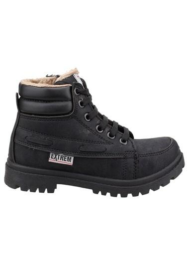 Ayakland Ayakland Extrem 01 Kürklü Erkek Çocuk Bot Ayakkabı Siyah